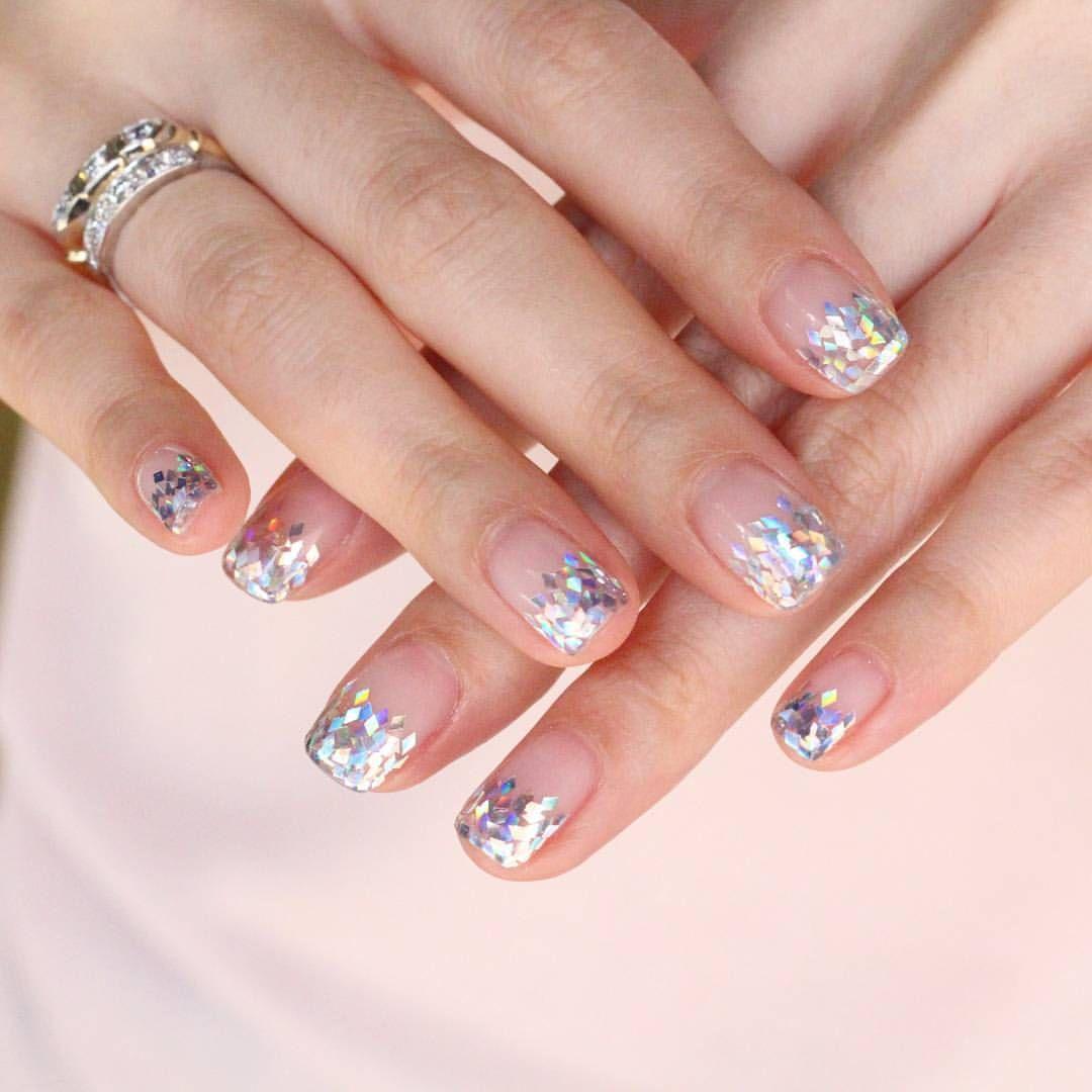 gradationnails #glitternails #weddingnails #notd ❤ | nail ...
