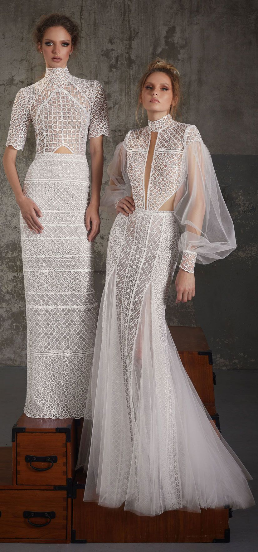 Boho wedding dress with sleeves  Lior Charchy Fall  Wedding Dresses  Wedding Dresses  Pinterest