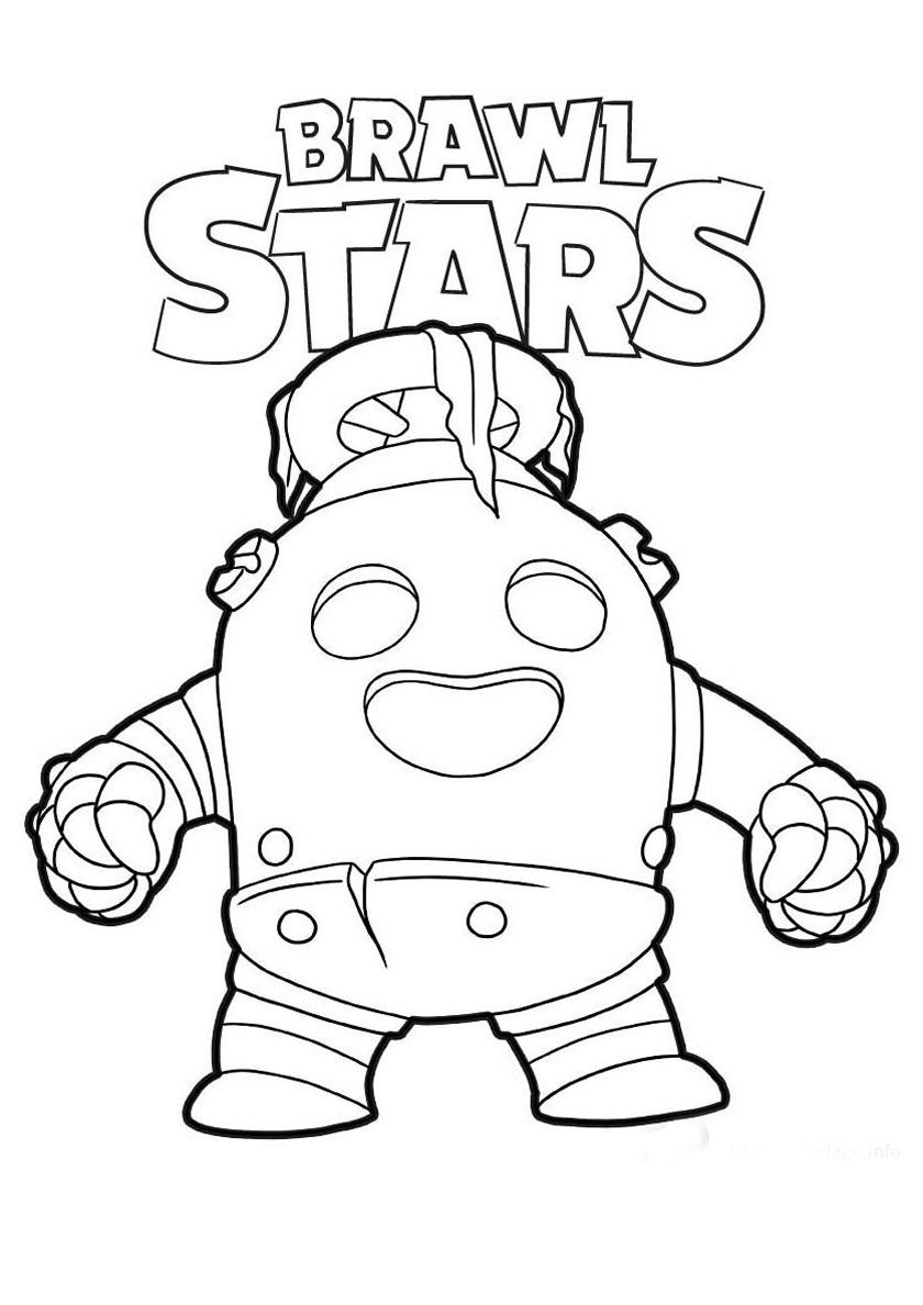 Robo Spike High Quality Free Coloring Page From The Category Brawl Stars More Printable Pictures On In 2020 Star Coloring Pages Coloring Pages Shark Coloring Pages