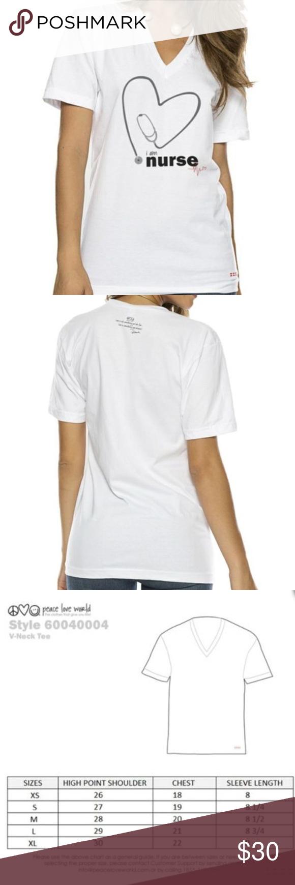 Nwt I Am Nurse T Shirt Peace Love World Size Large Still In