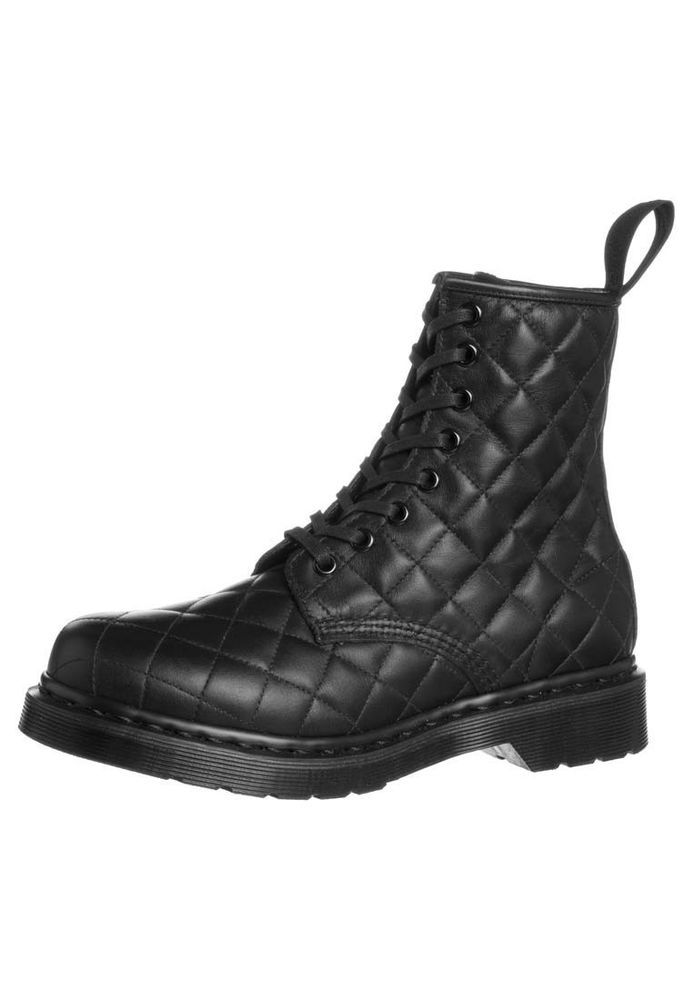 6c62fa7ffc8 Dr. Martens Women's Coralie Quilted Lace Up Leather Ankle Boots Black Danio