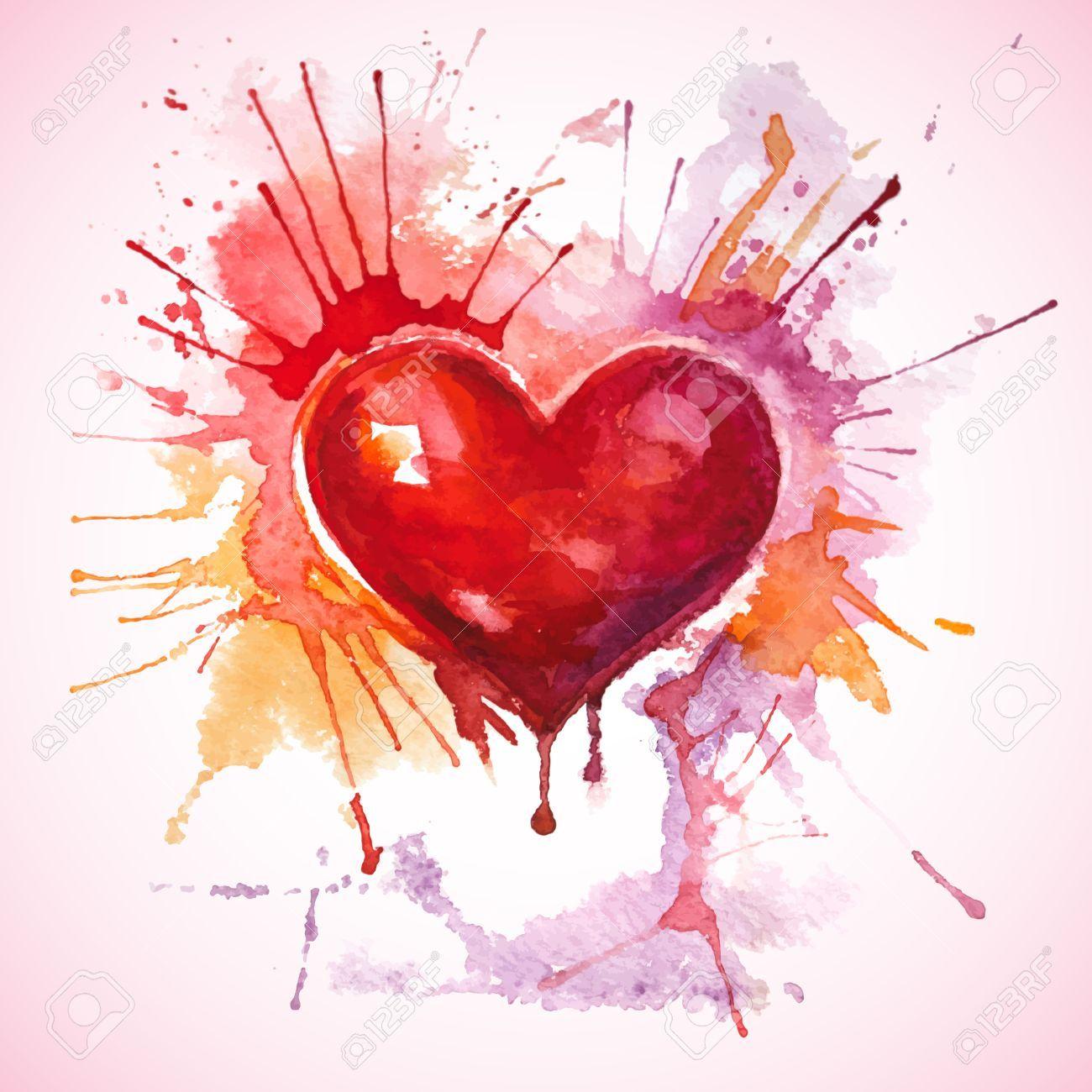 Herzen Aquarell Herz Herz Malen Schone Bilder Zeichnen