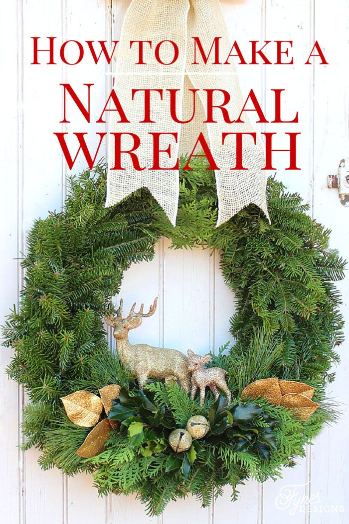 easy to follow tutorial how to make a christmaswreath - How To Make Christmas Wreath
