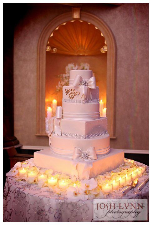 Bows And Bling Wedding Cake By Pink Box