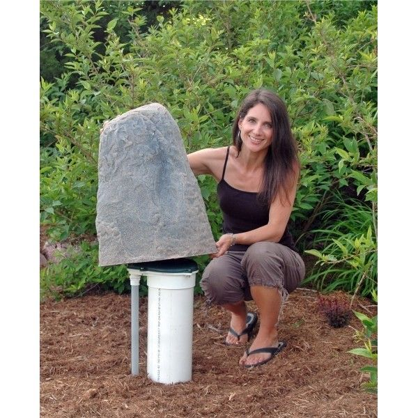 Dekorra Model 107 Fake Rock Cover I Ve Used These On A Couple Different Projects Hiding Well Heads T Landscaping With Rocks Landscape Rock Fake Rock Covers
