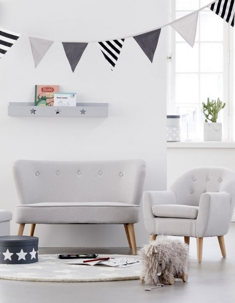 Kindersessel grau  Kindersofa in grau mit Kindersessel | Baby * room | Pinterest | Room