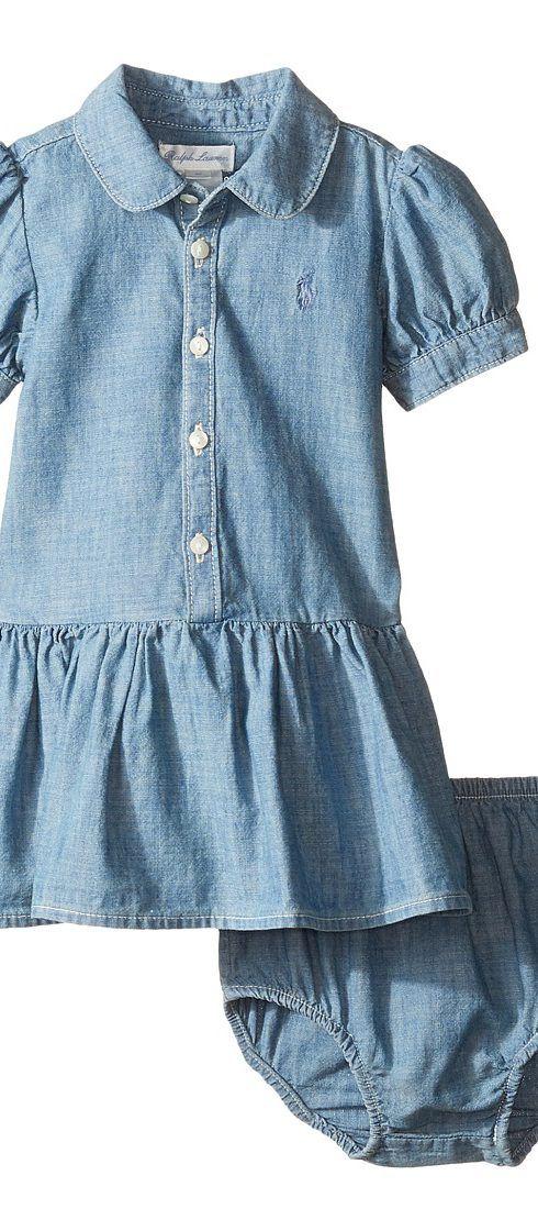 Short Sleeve Chambray Dress
