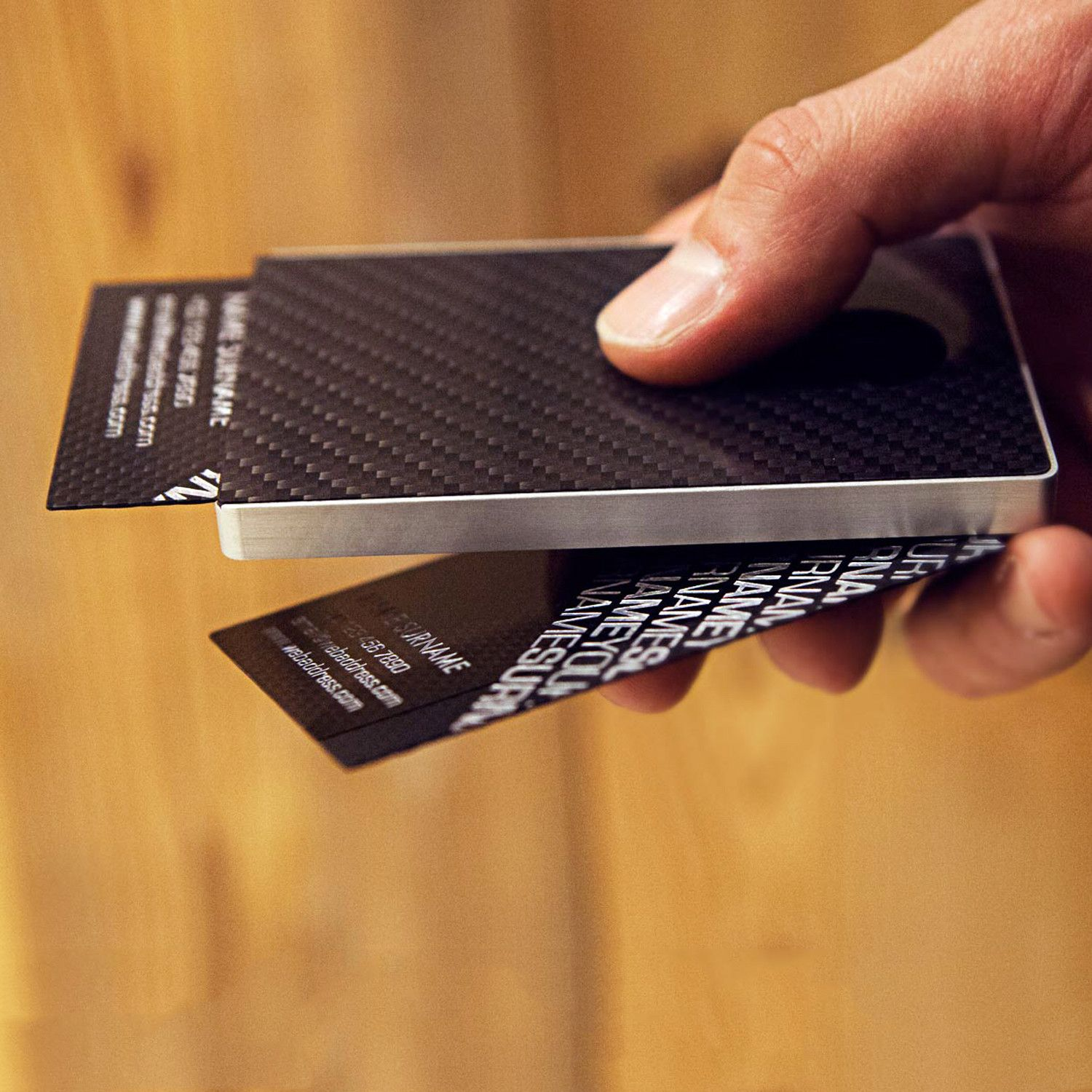 Carbon fiber business card holder from cardissimos the design carbon fiber business card holder from cardissimos the design allows you to take out a magicingreecefo Gallery