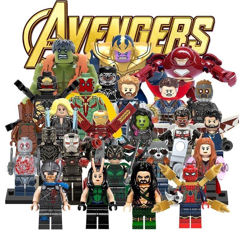 Avengers Super Hero Mini figurines Marvel fin Jeu 16 pcs minifigs Thanos Ironman