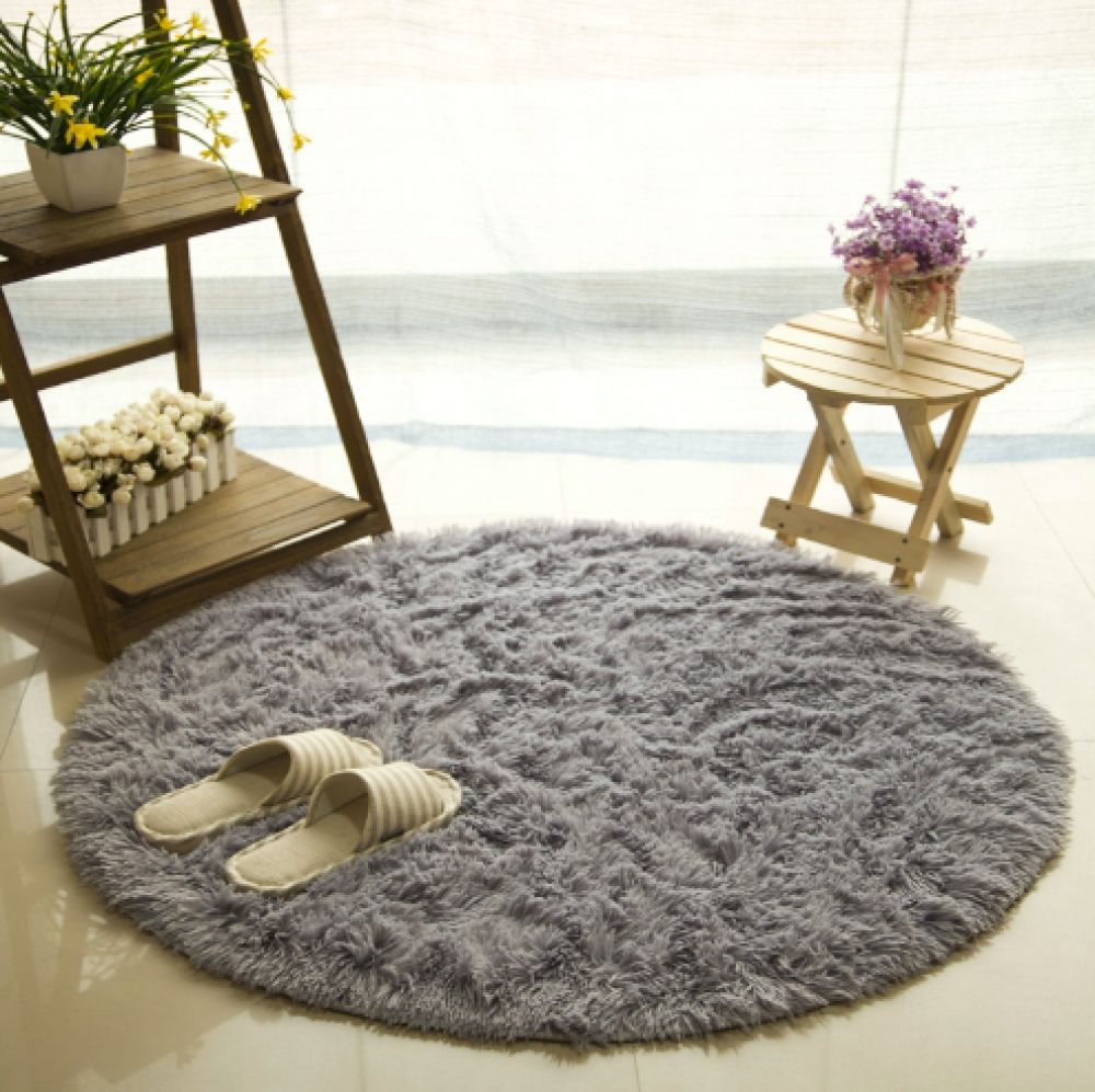 Best Faux Fur Round Rug Rugs On Carpet Fluffy Rug Round Carpets 640 x 480