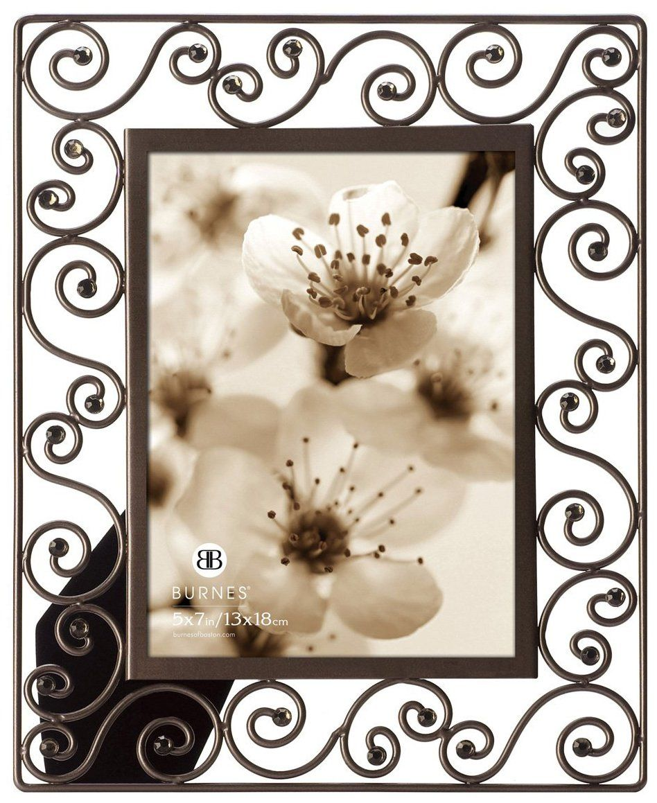 Traditional Wrought Iron Scrolls w/ Jewels Frame - casa.com | Home ...