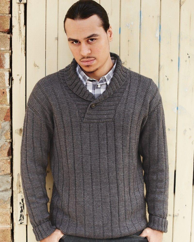 27 – Shawl Collared Sweater | Knitting Fever Yarns & Euro Yarns ...