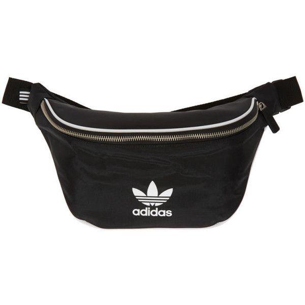 adidas Originals Black Logo Waist Bag (110 MYR) ❤ liked on Polyvore  featuring bags, black, hip fanny pack, print bags, fanny bag, belt fanny  pack and belt ... 1cb772801e