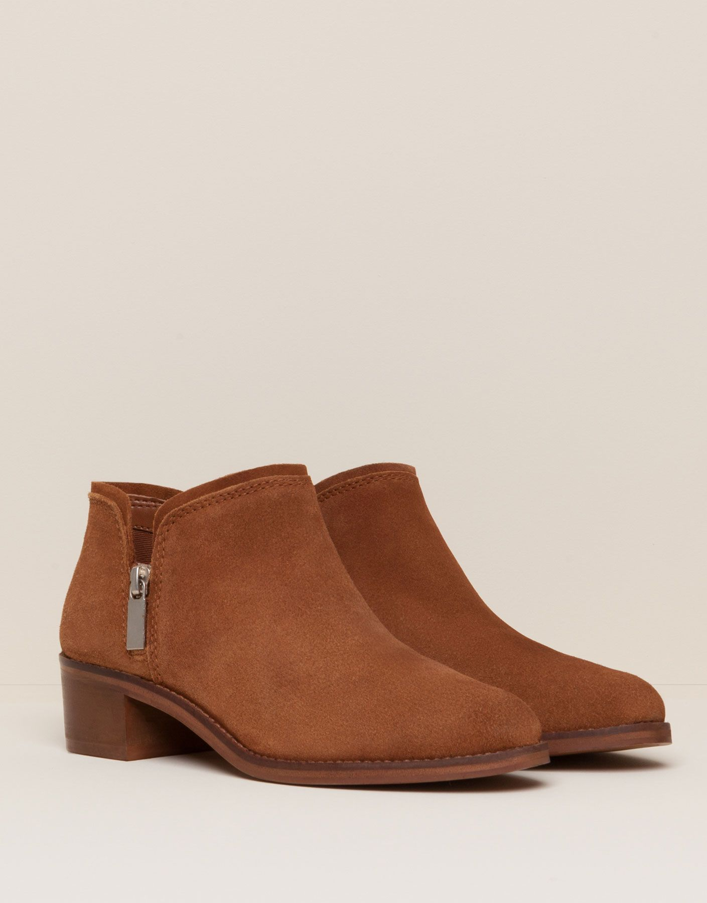 d26cc0d042f78 BOTÍN PIEL SERRAJE CASUAL - ZAPATOS MUJER - MUJER - PULL BEAR Colombia