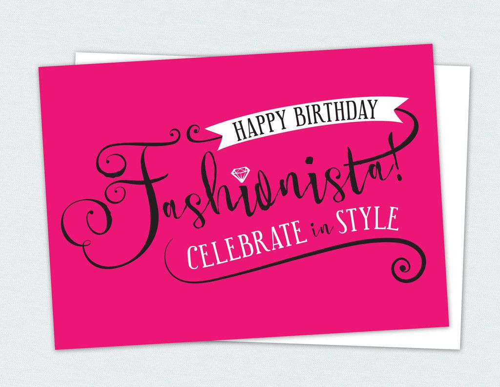 Happy Birthday Fashionista card | Penny Lacey Product Line ...