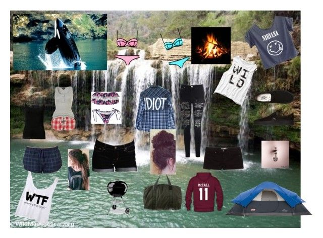 camping by lusilareyes on Polyvore featuring art