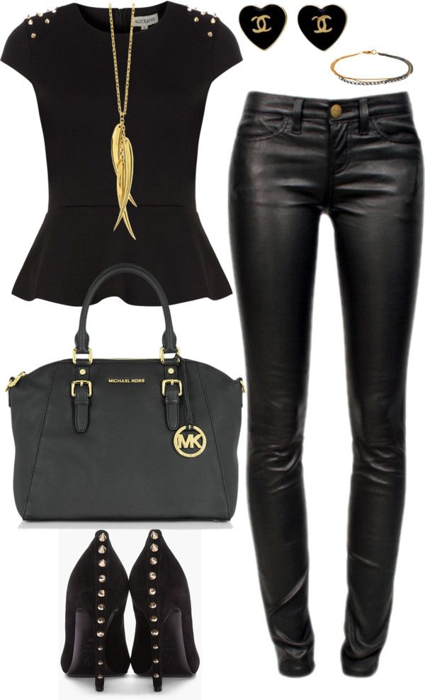 Black And Gold Casual Black Winter Fashion