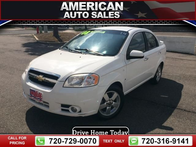 2008 Chevrolet Chevy Aveo Lt 4 Door White Call For Price 87831 Miles