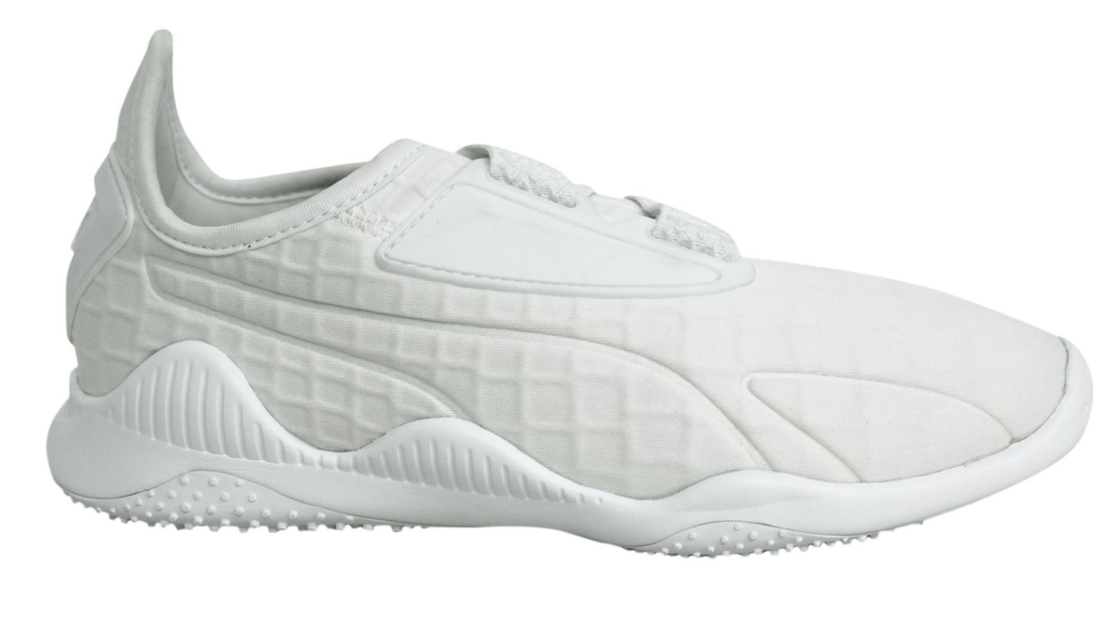 nouveau style c1f72 f4fb4 44.91   Puma Mostro Strap Up White Textile Womens Trainers ...