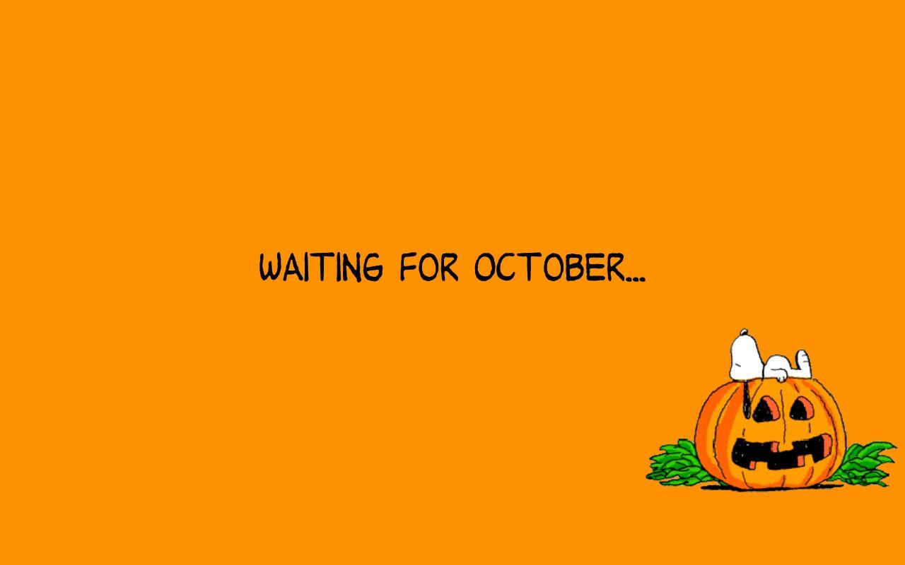 Snoopy October Computer Wallpaper