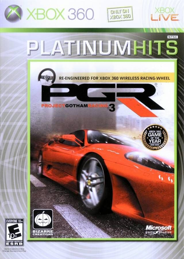 Pgr Project Gotham Racing 3 Xbox 360 Games Xbox 360 Xbox