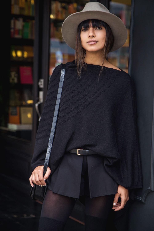 Black Poncho   Fashion In Da Hat
