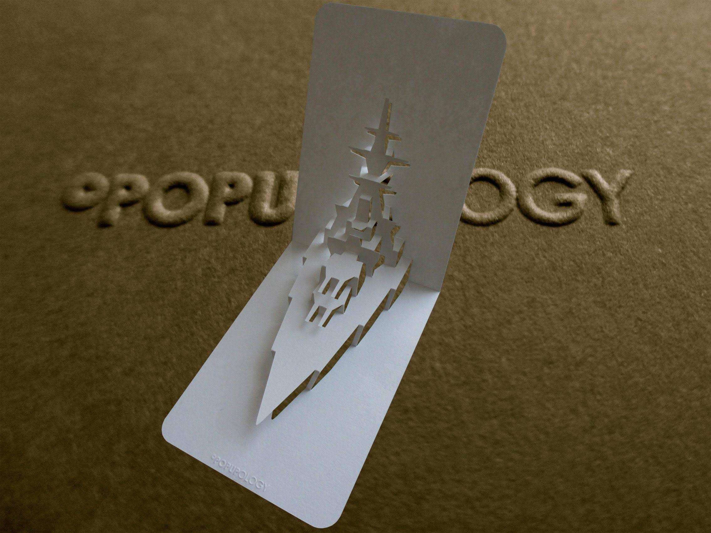 Pop Up Battleship Card Tutorial Origamic Architecture Card Tutorial Tutorial Leaf Crafts