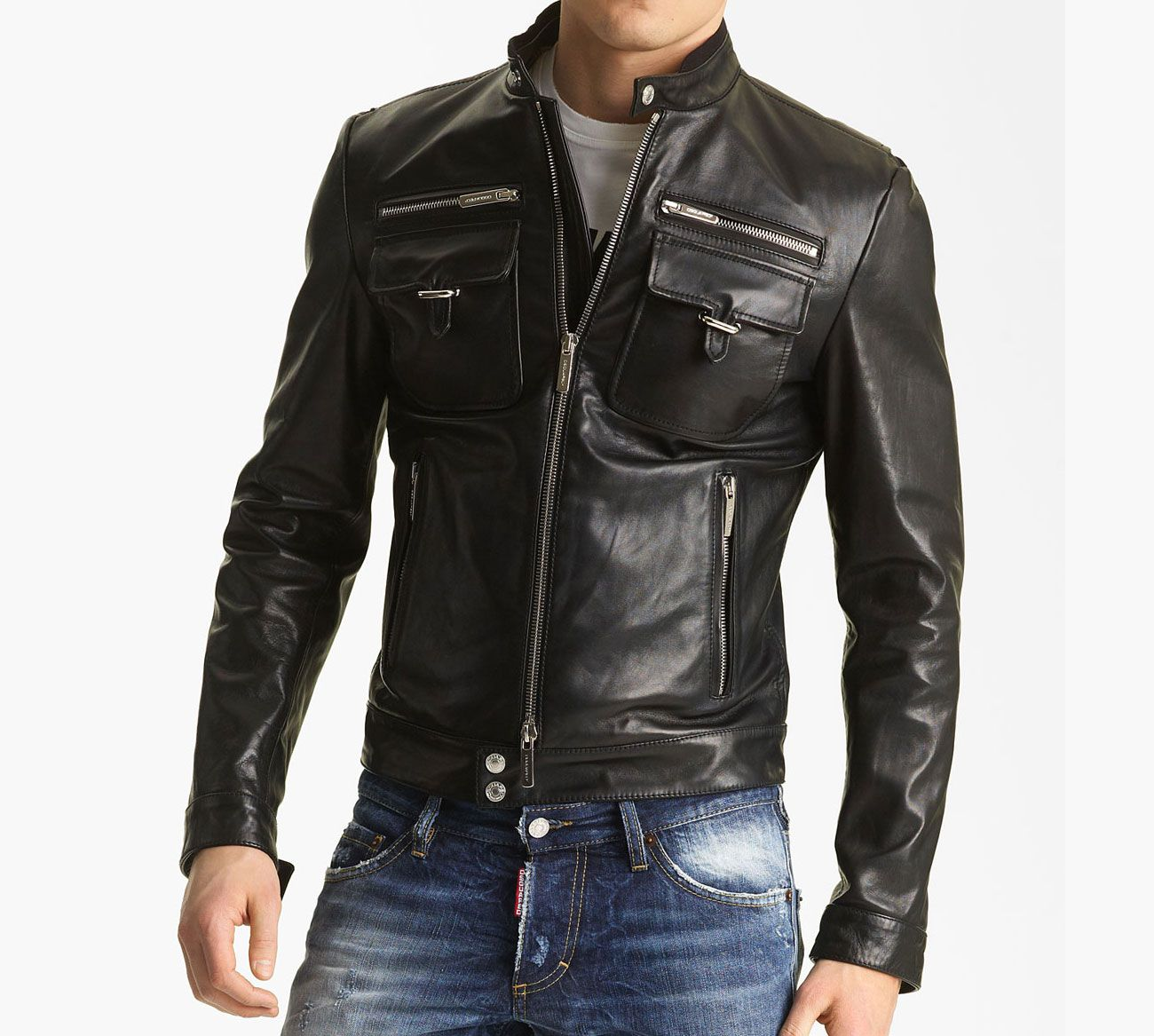 Leather Jackets...love this smell and look of leather on a man. ;0 ...