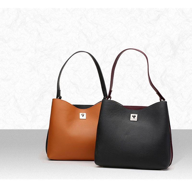 Outdoor Bags Fashion Handbag Genuine Leather Women Handbags Casual Lightweight Purse Las Tote Bag