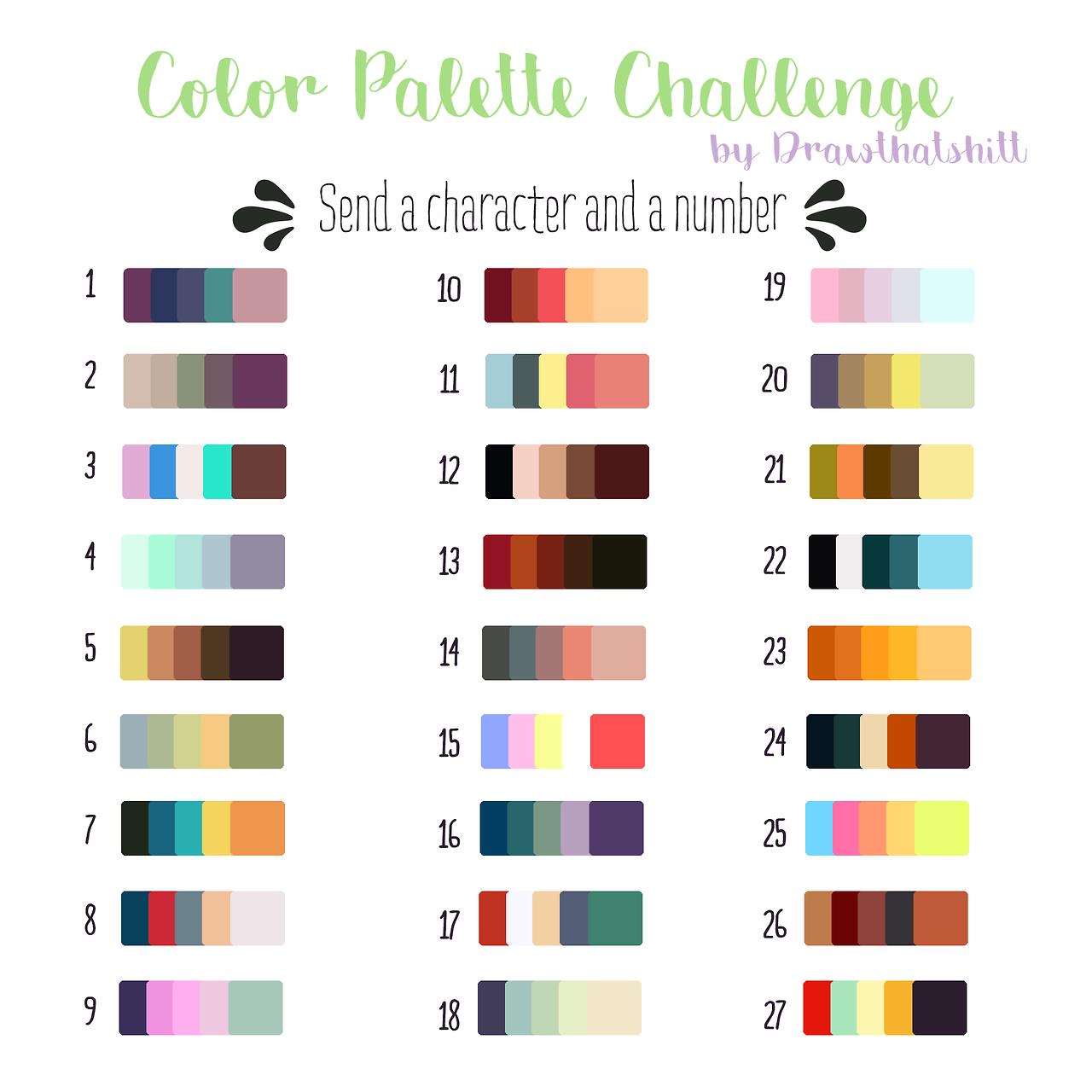 Drawthatshitt I Created A Color Palette