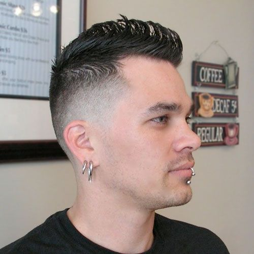 15 High Fade Haircuts For 2016 Hairstyles For Receding Hairline Faux Hawk Side Haircut