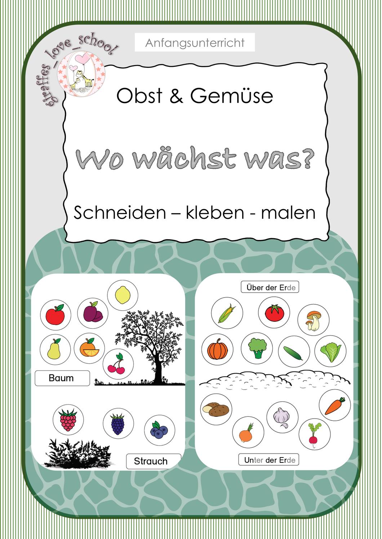 Arbeitsblätter OBST & GEMÜSE Wo wächst was – Unterrichtsmaterial ...