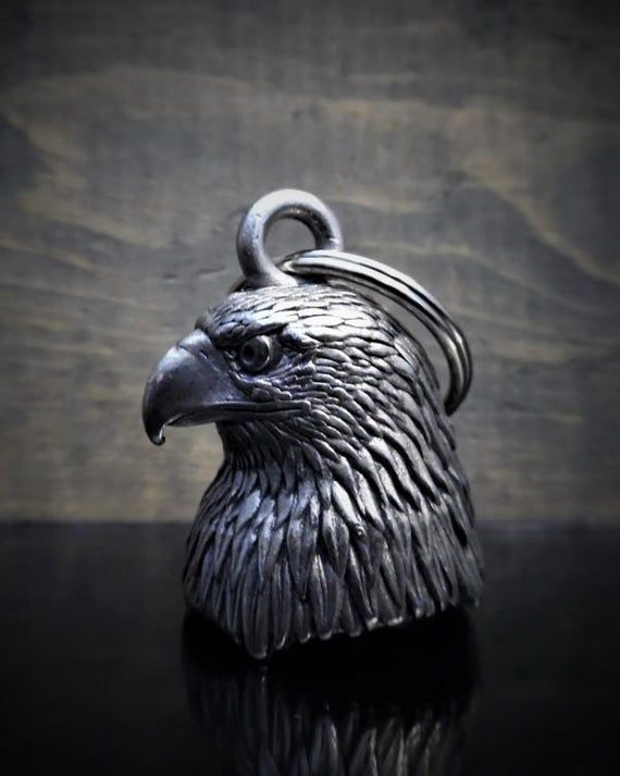 EAGLE HEAD 3-D MOTORCYCLE RIDE BELL