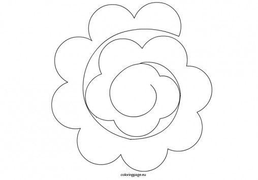 Spiral Paper Rose Template Paper Flower Template Paper Rose