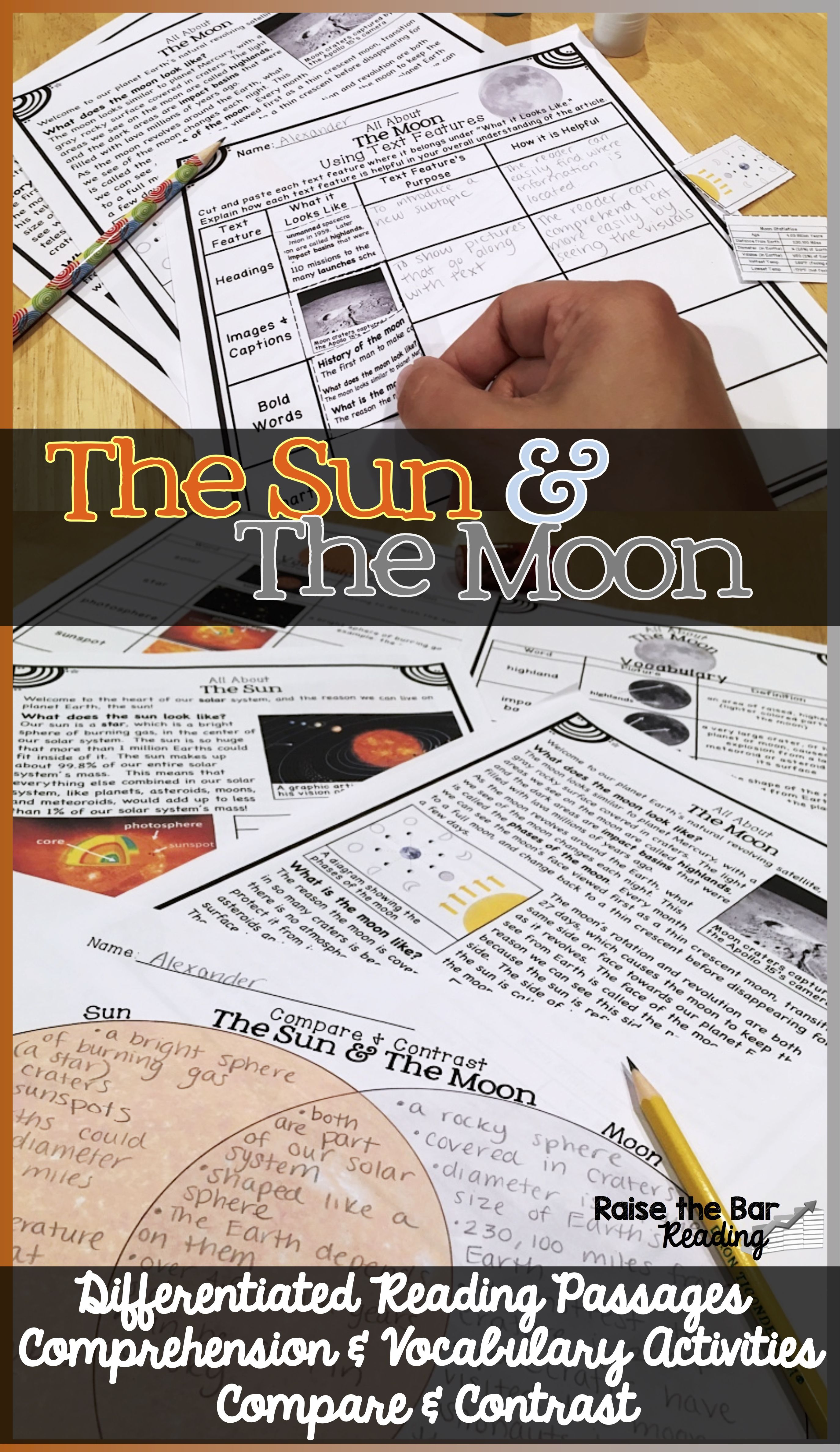 Sun Moon Compare And Contrast Differentiated Informational Reading Passages Reading Passages Differentiated Reading Passages Informational Reading Passages [ 4750 x 2750 Pixel ]