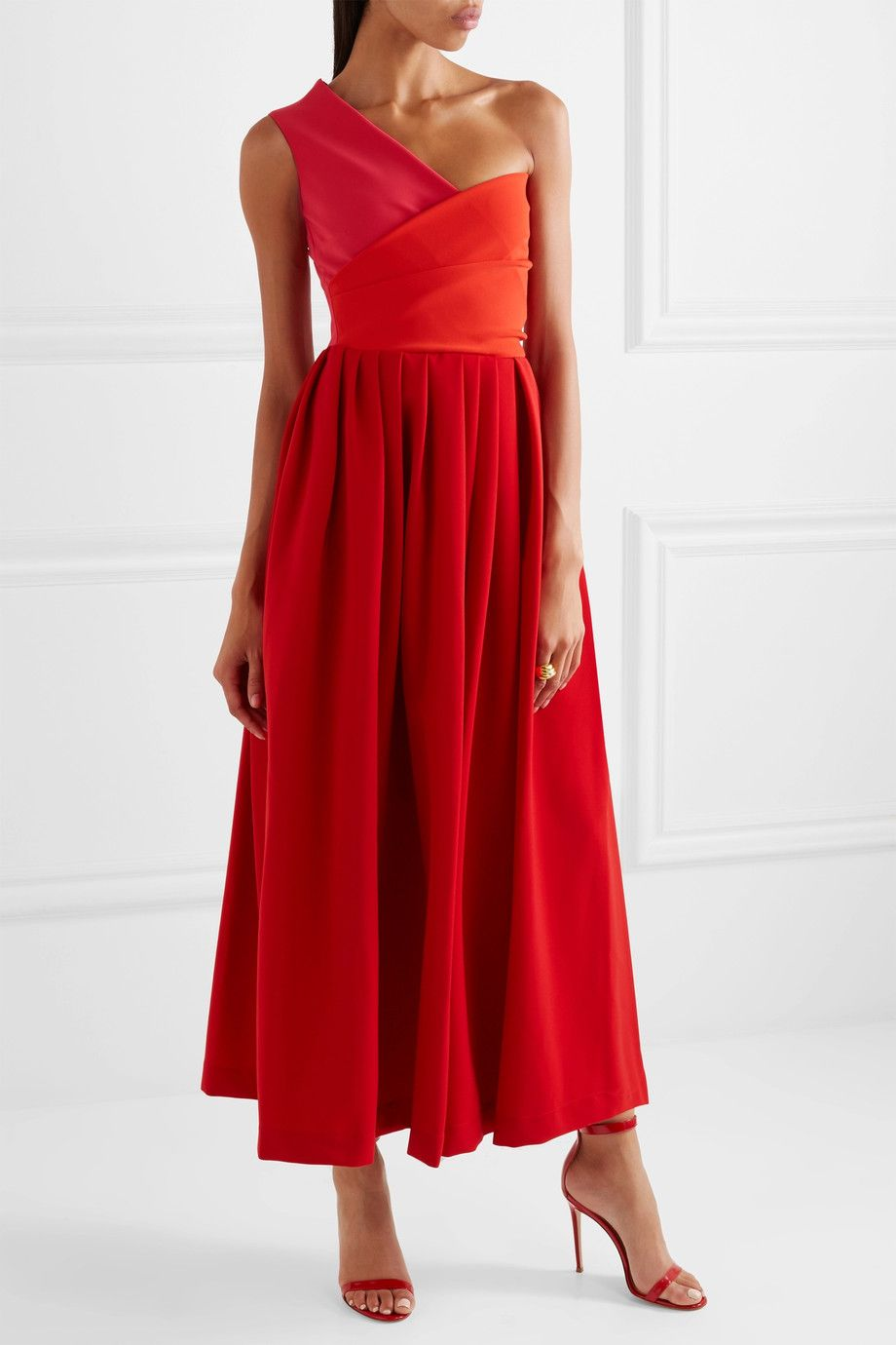 Dresses to wear to a wedding as a guest in april  Preen by Thornton Bregazzi  April oneshoulder cady midi dress