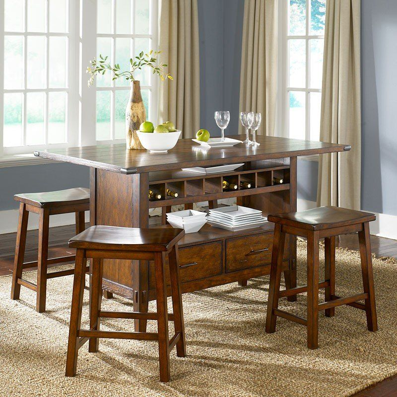 Cabin Fever Center Island Set With Images Kitchen Table With
