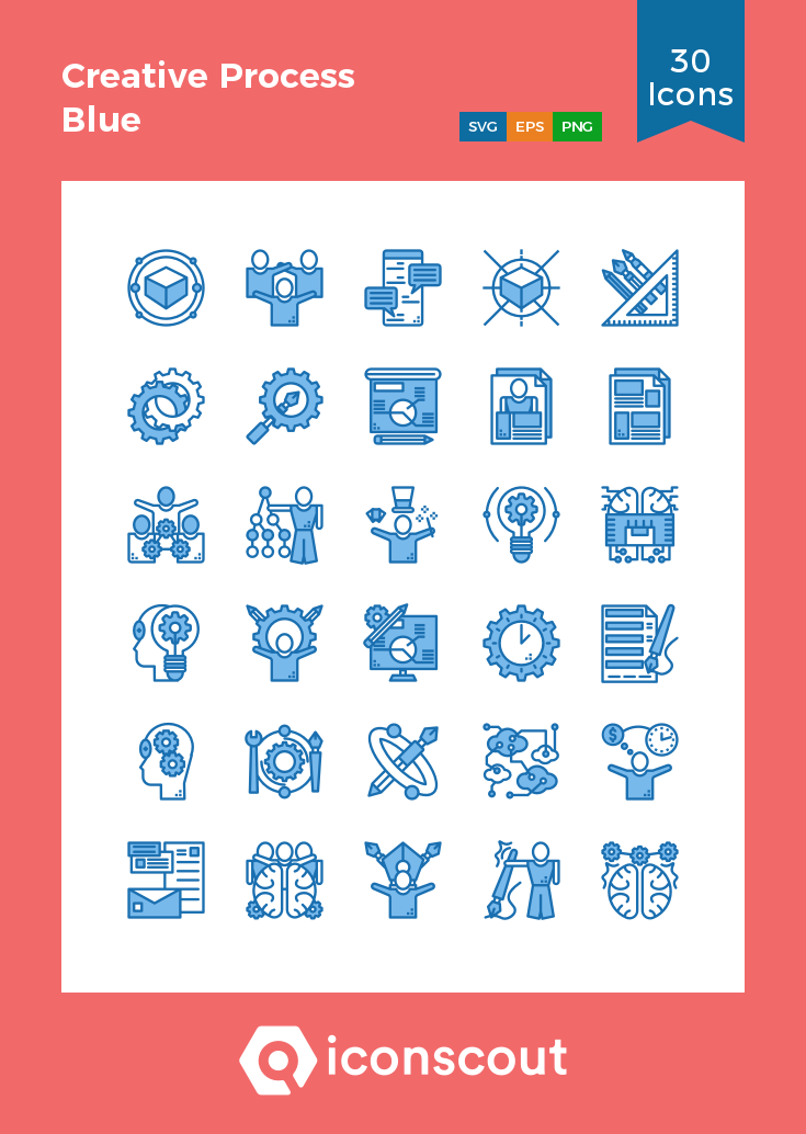 Download Download Creative Process Blue Icon pack - Available in ...
