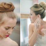 Peinado novia chongo alto