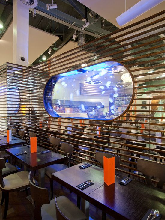sensational glass wall design with blue color combined with modern