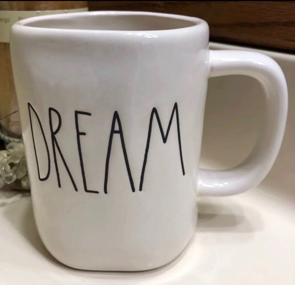 This Is A Fun Rae Dunn Ceramic Coffee Or Tea Mug With The Word Dream On It I Included Pictures From All Angle Coffee And Tea Accessories Mugs Coffee Tea