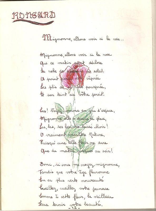 Mignone Allons Voir Si La Rose : mignone, allons, Cassandre, (Pierre, Ronsard), Mignonne,, Rose,, Illustration