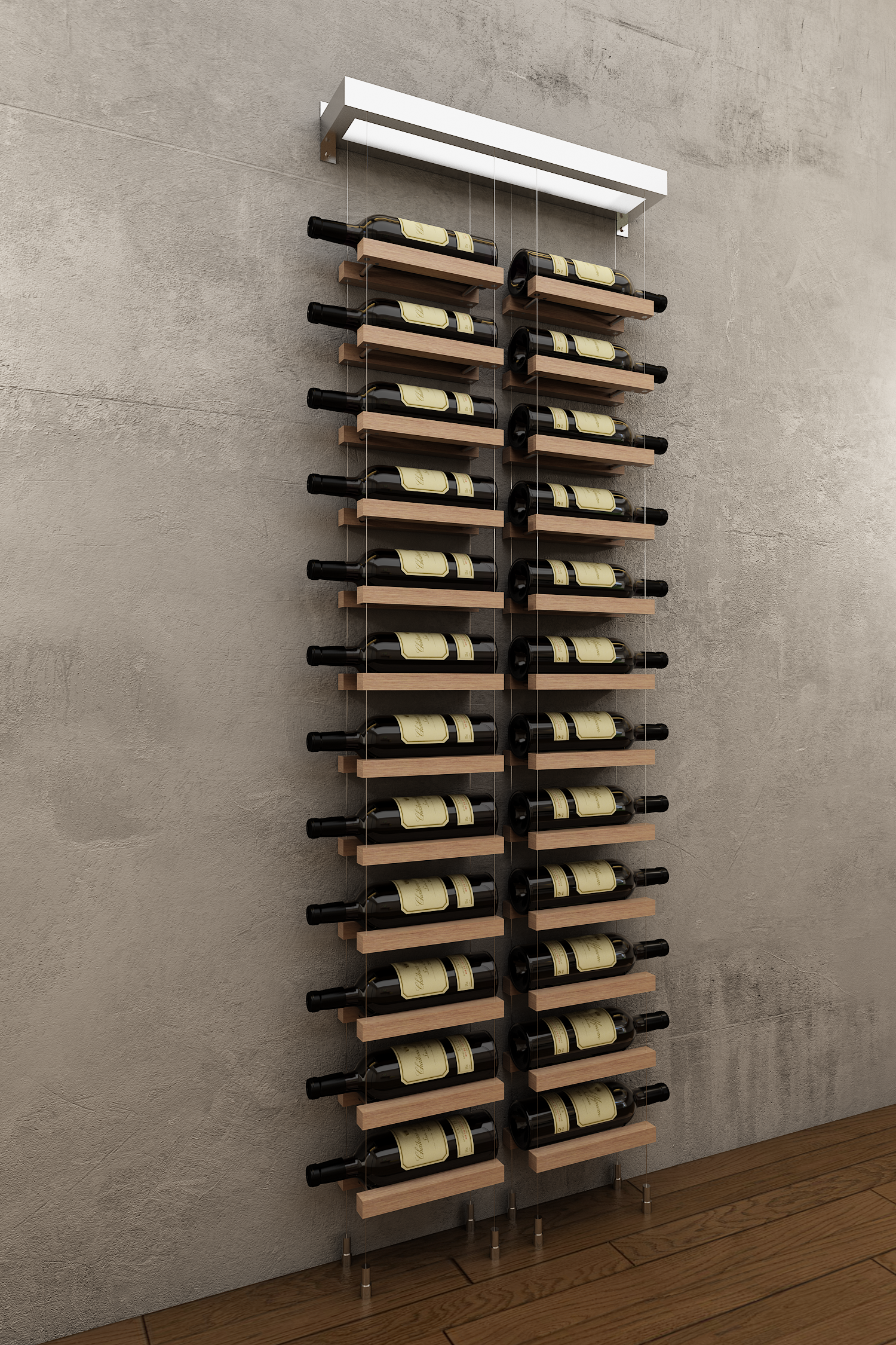 Wm2l1 Chrome Modern Wine Rack Wall Mounted Wine Rack Wall Hanging Wine Rack