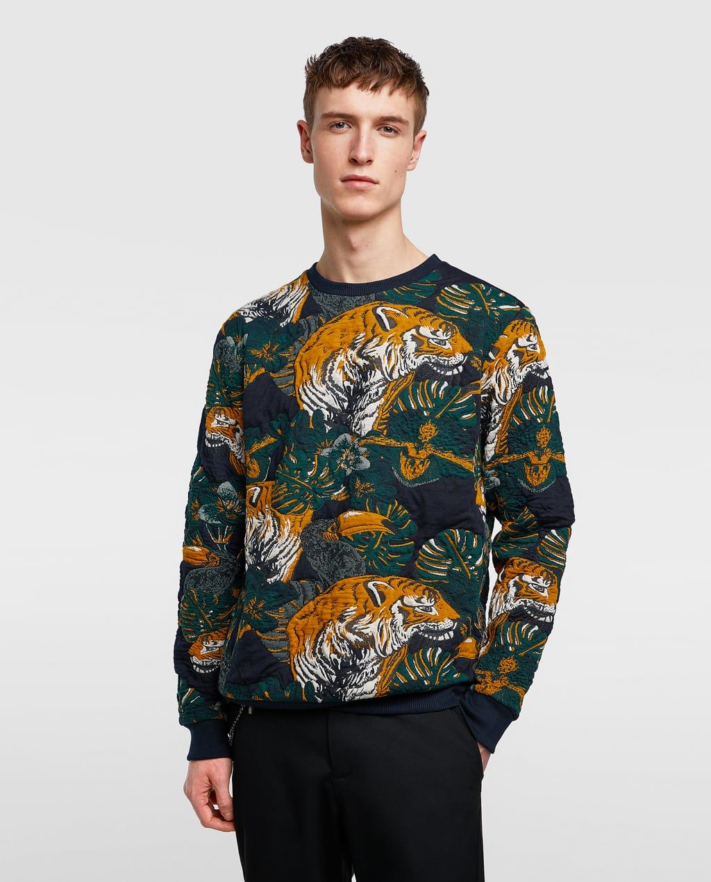 caa42a5d Striped jogging pants in 2019   Styling Mood   Mens sweatshirts ...