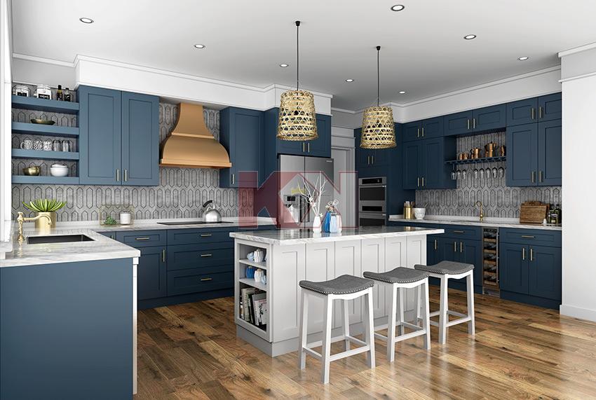 Imperial Blue Kitchen Assembled Kitchen Cabinets Blue Kitchen Cabinets Online Kitchen Cabinets