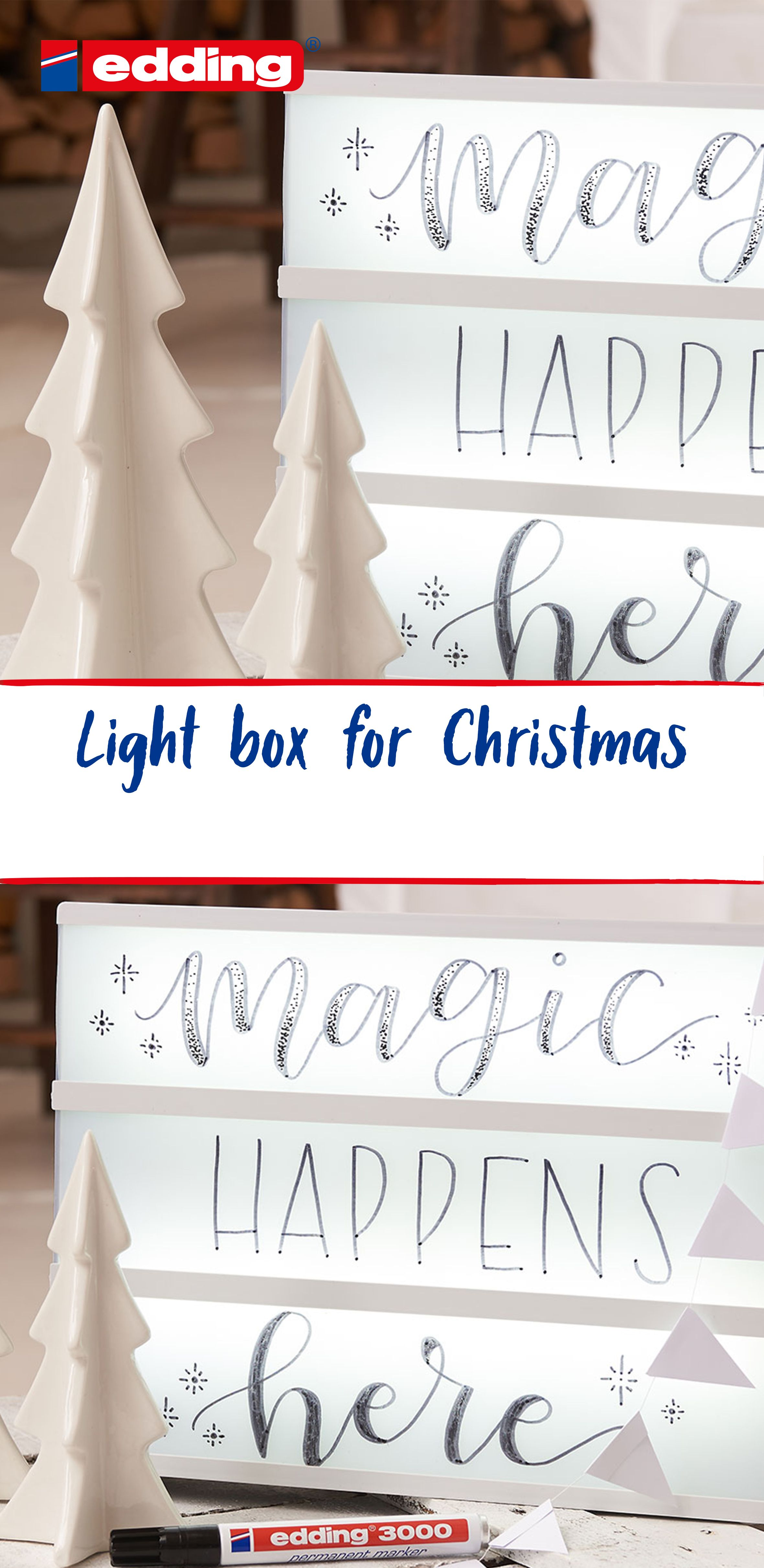Light Box For Christmas Hand Lettered Christmas Cards Christmas Gift Tags Personalized Hand Lettered Christmas
