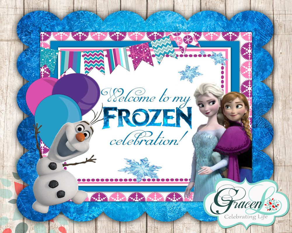Frozen Welcome Sign Frozen Birthday Decorations by GracenLDesigns ...