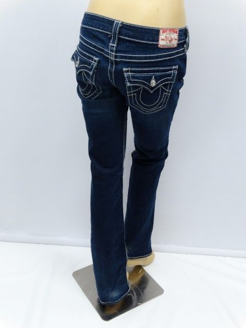 Just in! True Religion Disco Billy Big T Crystal Studded Jeans - 28. Save up to 70% at ShopKarma.com! Upscale pre owned designer bags, clothing, shoes and accessories! #karmacouture #upscaleresale #shopkarma #shopresale #consignment #fashion #style #designer #truereligion #jeans