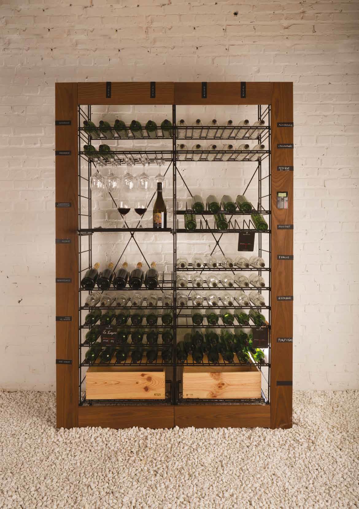 Casiers bouteilles casier vin rangement du vin am nagement cave casier bois cave vin - Meuble a casier ...