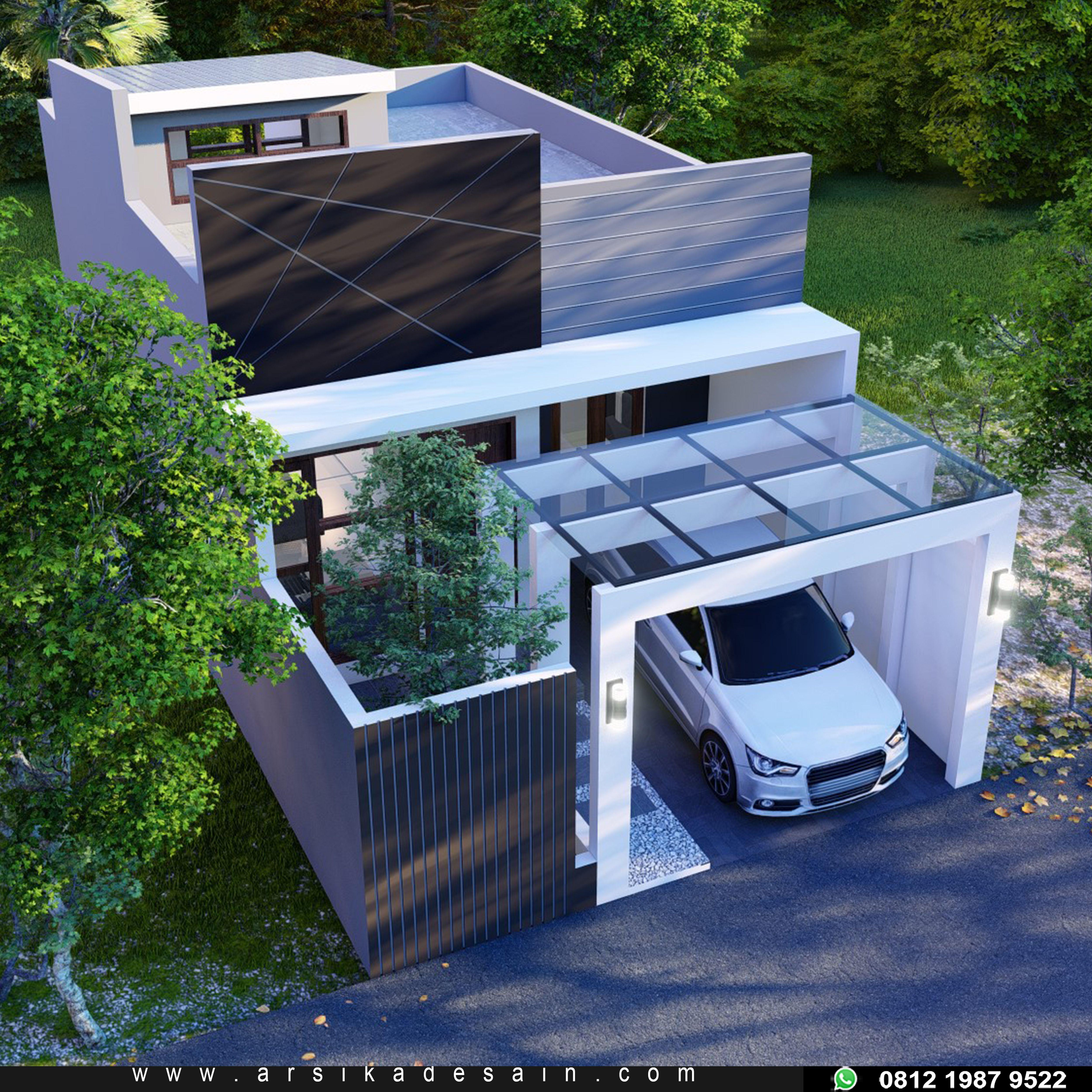Desain Rumah Atap Datar Flat Rumah Arsitektur Arsitektur Modern